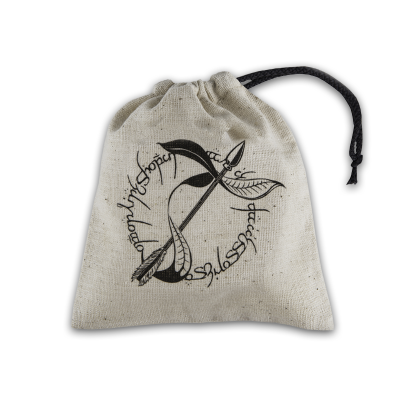Dice Accessories: Elvish Beige & Black Basic Dice Bag