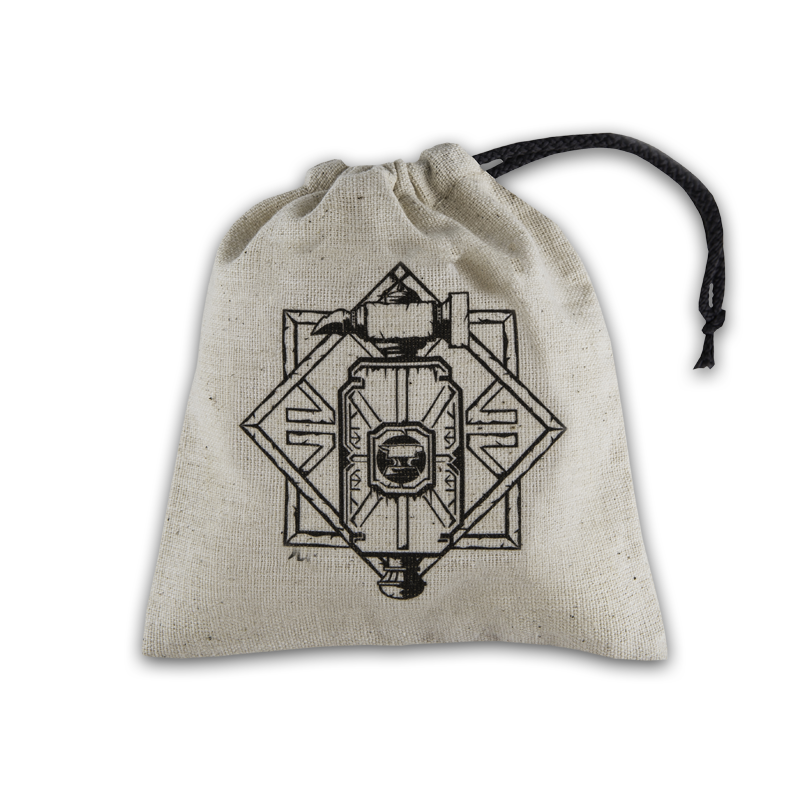 Dice Accessories: Dwarven Beige & Black Basic Dice Bag