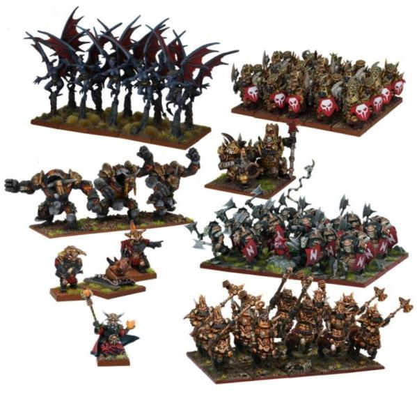 Kings Of War: Abyssal Dwarf Mega Army
