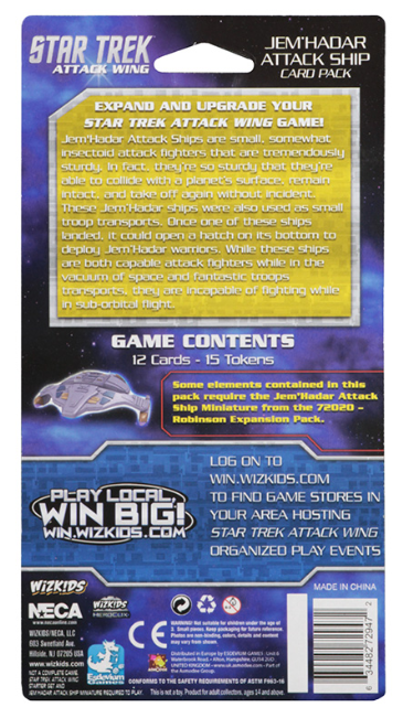 Star Trek Attack Wing: Card Pack Wave 3 Jem'Hadar Attack Ship