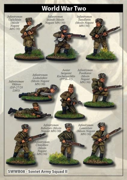 28mm World War II: (Soviet) Soviet Army Squad II