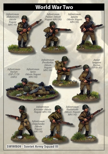 28mm World War II: (Soviet) Soviet Army Squad III