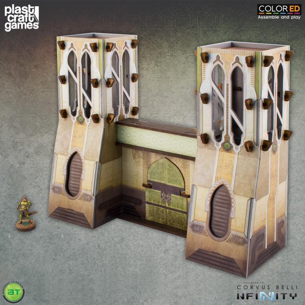 Infinity Terrain: Bourak City Gate (Color ED)