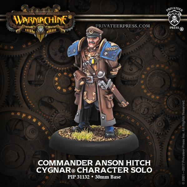 Warmachine: (Cygnar) Commander Anson Hitch - Cygnar Solo (metal)