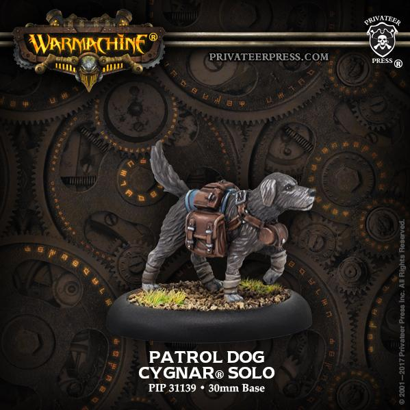 Warmachine: (Cygnar) Patrol Dog - Cygnar Solo (resin)