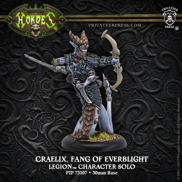 Hordes: (Legion Of Everblight) Craelix, Fang of Everblight - Everblight Solo (metal)