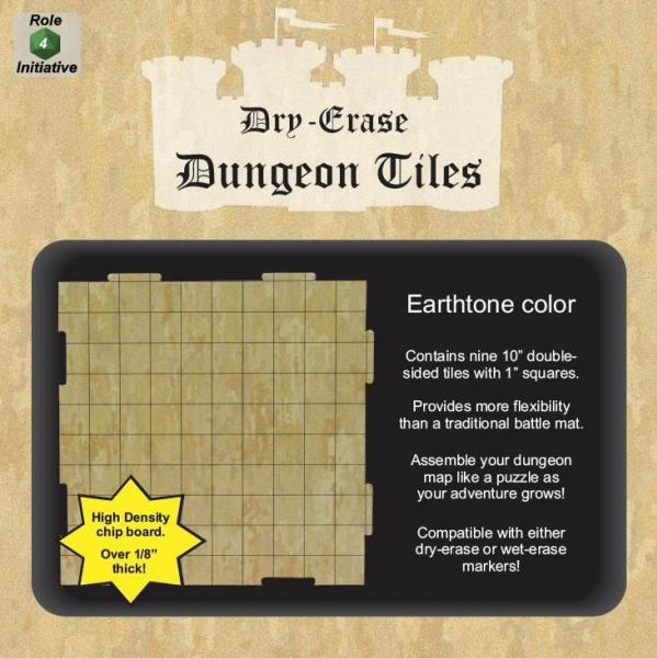 Dungeon Tiles: Earthtone - 10'' Squares (9)