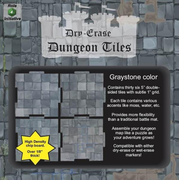 Dungeon Tiles: Graystone - 5'' Squares (36)
