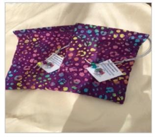Dice Bag: (Cotton) Purple Spots (1)