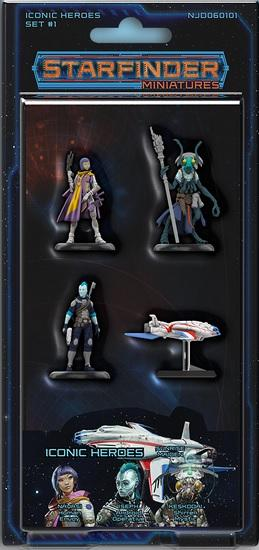 Starfinder Miniatures: Iconic Heroes Set 1