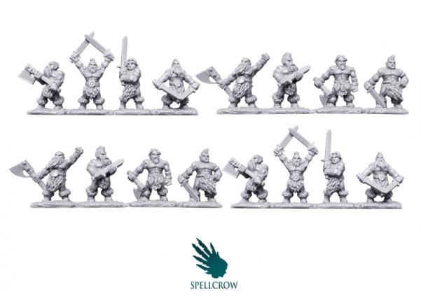 10mm scale Barbarians Warriors Pack