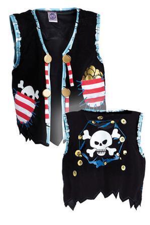 Pirate Vest, Pirate Red Stripe
