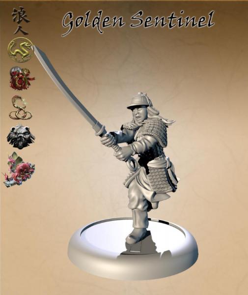 Bushido Miniatures: The Golden Sentinel (alternative sculpt)