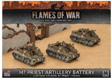 Flames Of War (WWII): (USA) M7 Priest Artillery Battery (3)