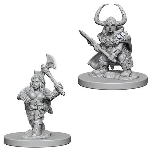 D&D Nolzurs Marvelous Unpainted Minis: Dwarf Female Barbarian