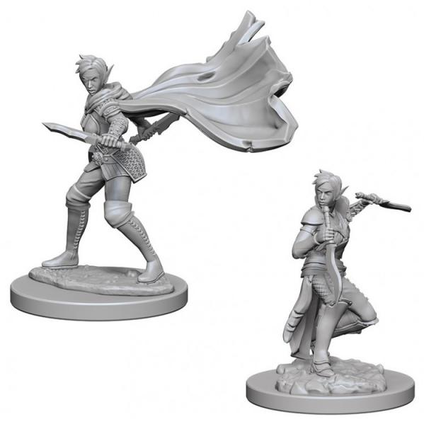 Pathfinder Battles Deep Cuts Unpainted Miniatures: Elf Female Rogue