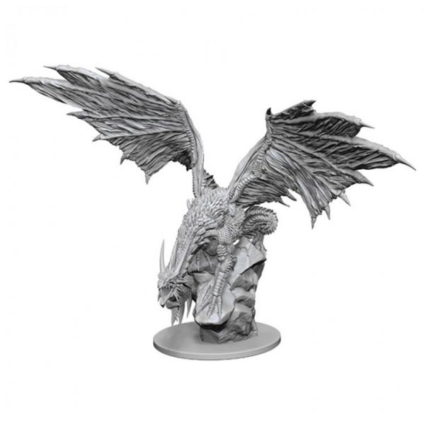 Pathfinder Battles Deep Cuts Unpainted Miniatures: Silver Dragon
