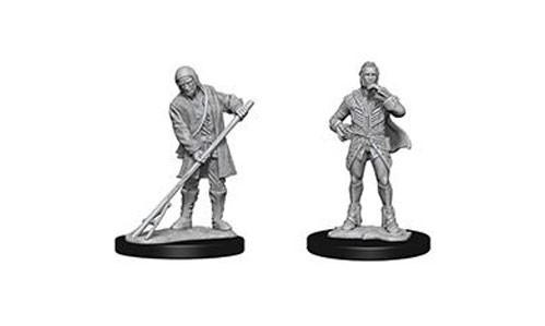 Pathfinder Battles Deep Cuts Unpainted Miniatures: Towns People (Farmer/Aristocrat)