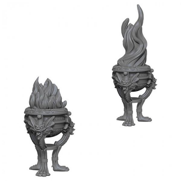 WizKids Deep Cuts Unpainted Miniatures: Braziers