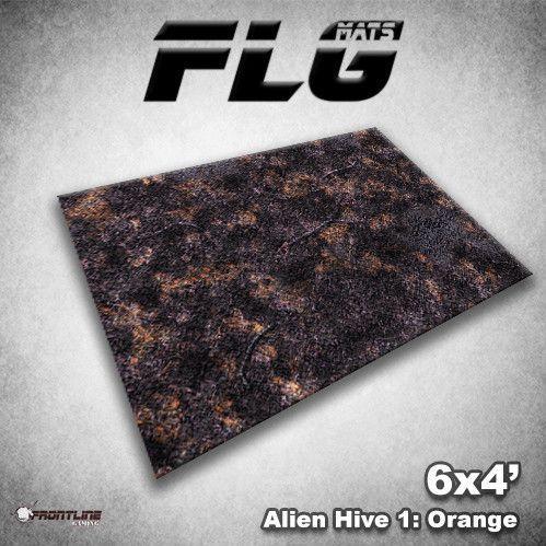Frontline Gaming Mats: Alien Hive Orange 4x6'