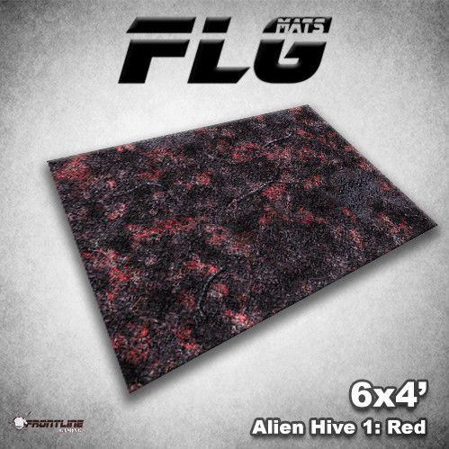 Frontline Gaming Mats: Alien Hive Red 4x6'