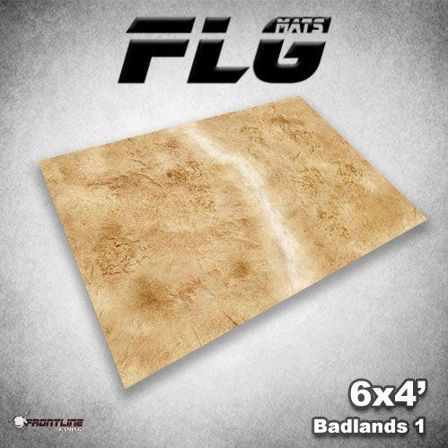 Frontline Gaming Mats: Badlands v1 4x6'