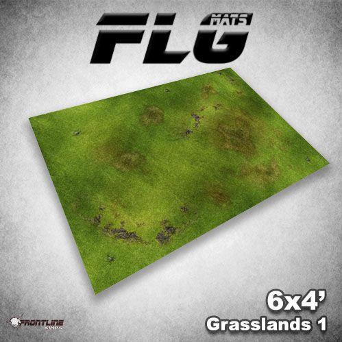 Frontline Gaming Mats: Grasslands v1 4x6'