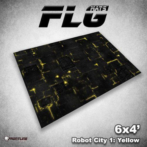 Frontline Gaming Mats: Robot City v1 Yellow 4x6'