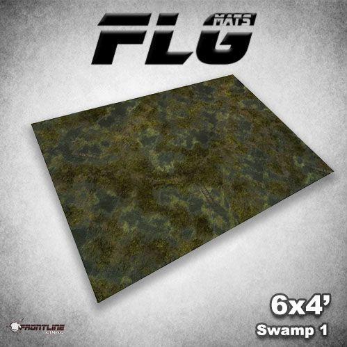 Frontline Gaming Mats: Swamp v1 4x6'