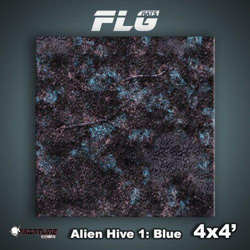 Frontline Gaming Mats: Alien Hive Blue 4x4'