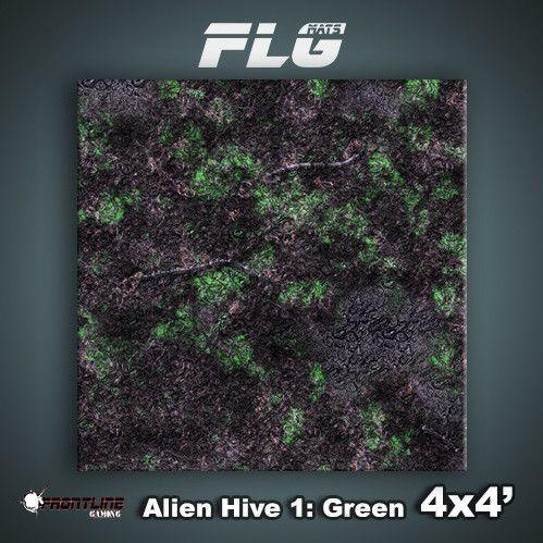 Frontline Gaming Mats: Alien Hive Green 4x4'