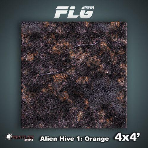 Frontline Gaming Mats: Alien Hive Orange 4x4'