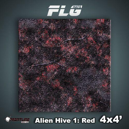 Frontline Gaming Mats: Alien Hive Red 4x4'