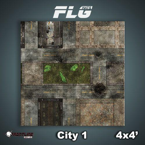 Frontline Gaming Mats: City v1 4x4'