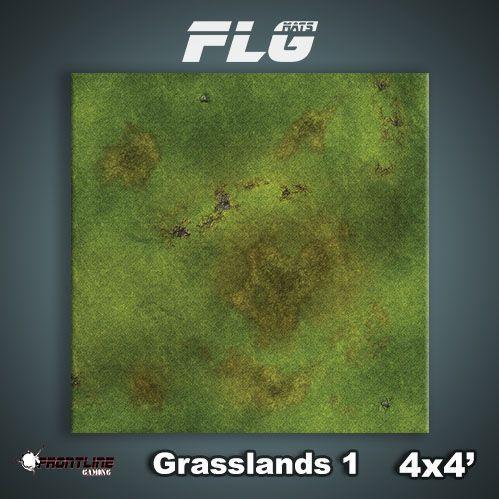 Frontline Gaming Mats: Grasslands v1 4x4'