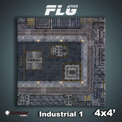 Frontline Gaming Mats: Industrial v1 4x4'