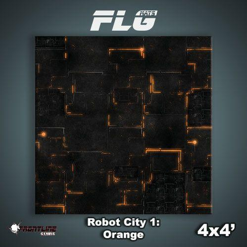 Frontline Gaming Mats: Robot City v1 Orange 4x4'