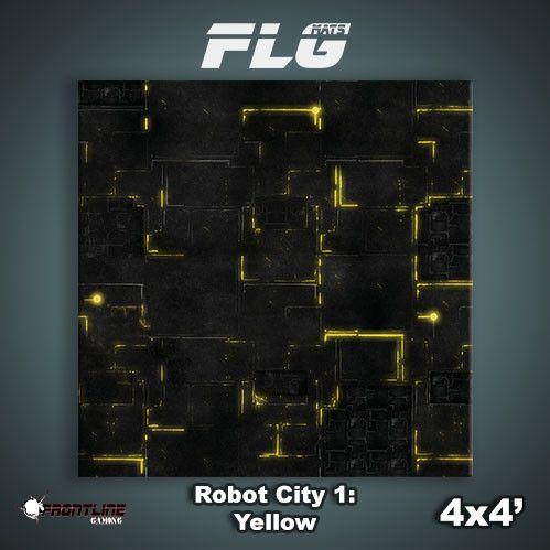 Frontline Gaming Mats: Robot City v1 Yellow 4x4'