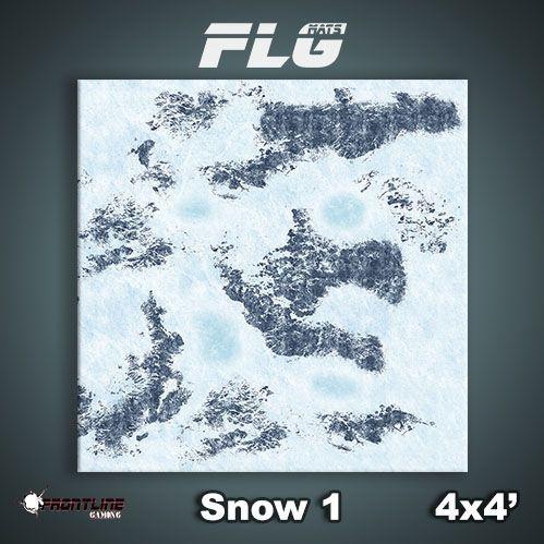 Frontline Gaming Mats: Snow v1 4x4'