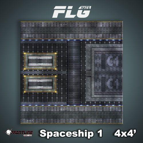 Frontline Gaming Mats: Spaceship v1 4x4'