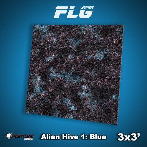 Frontline Gaming Mats: Alien Hive Blue 3x3'