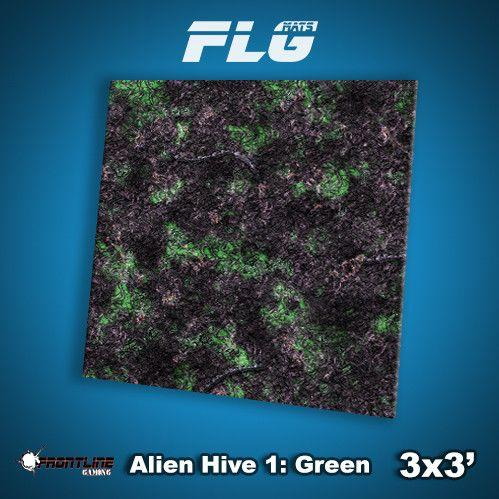 Frontline Gaming Mats: Alien Hive Green 3x3'