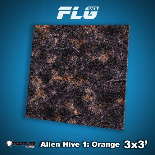 Frontline Gaming Mats: Alien Hive Orange 3x3'