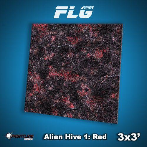 Frontline Gaming Mats: Alien Hive Red 3x3'