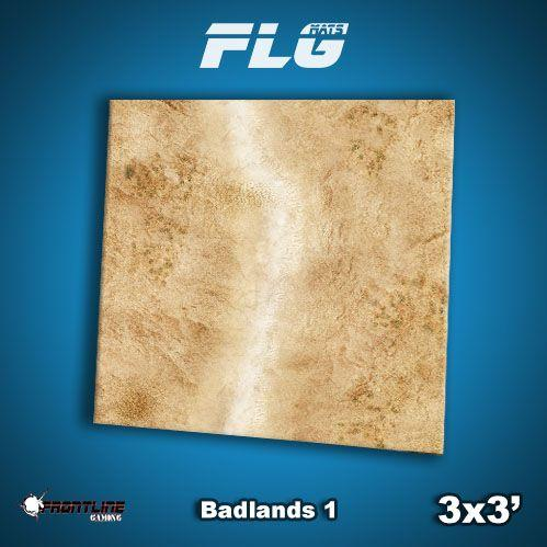 Frontline Gaming Mats: Badlands v1 3x3'