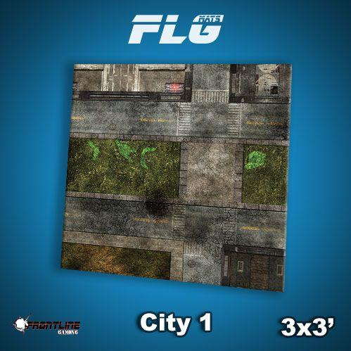 Frontline Gaming Mats: City v1 3x3'
