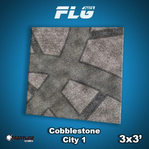 Frontline Gaming Mats: Cobblestone City v1 3x3'