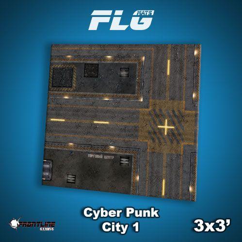 Frontline Gaming Mats: Cyberpunk City v1 3x3'