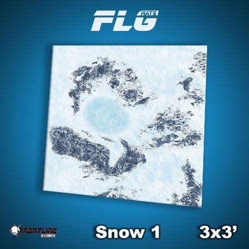 Frontline Gaming Mats: Snow v1 3x3'