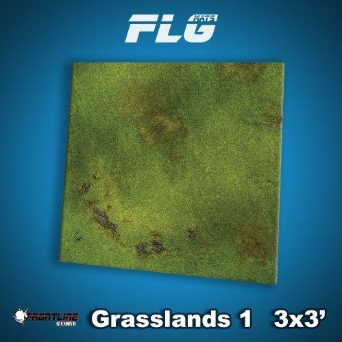 Frontline Gaming Mats: Grasslands v1 3x3'